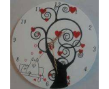 Acrylic Flowered Wall Clock